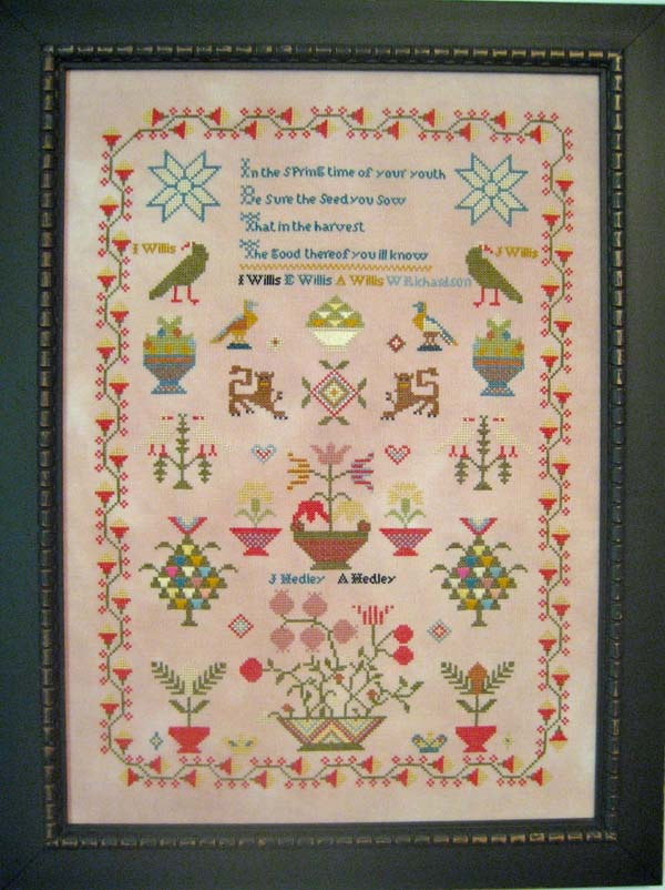 Willis/Hedley c 1850, an English reproduction sampler